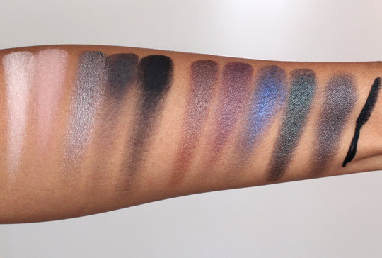 urban decay smoked palette swatches