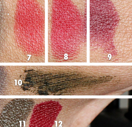 YSL Fall 2012 swatches
