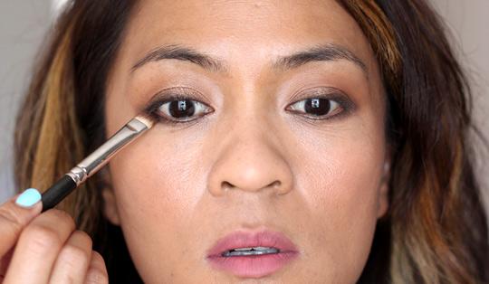 bronze and brown eye tutorial 2