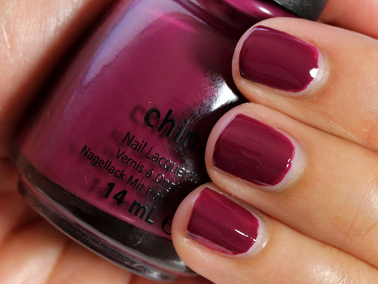 china glaze purr fect plum