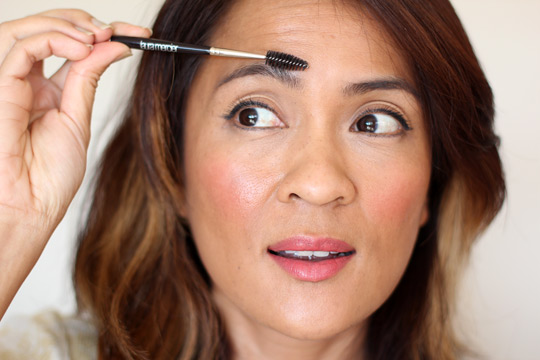 how to trim eyebrows that grow down