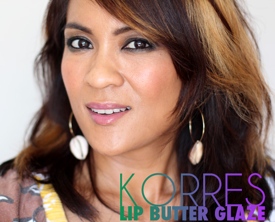korres lip butter glaze crocus