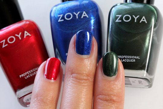 Zoya Diva Collection in Elisa, Song and Ray