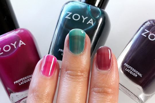 Zoya Gloss Collection in Paloma, Frida and Katherine