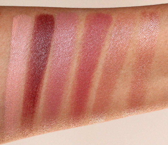 MAC Pro Lip Palette 6 Modern Browns swatches