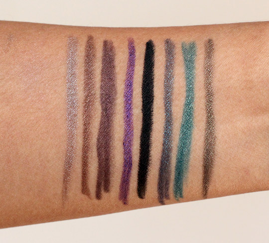 Urban Decay Ocho Loco 247 Glide On Eye Pencil Set swatches