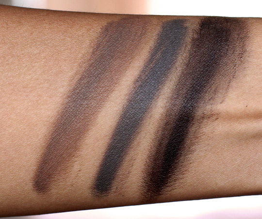 make up for ever aqua brow swatches