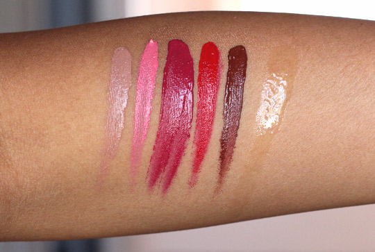 make up for ever aqua rouge swatches