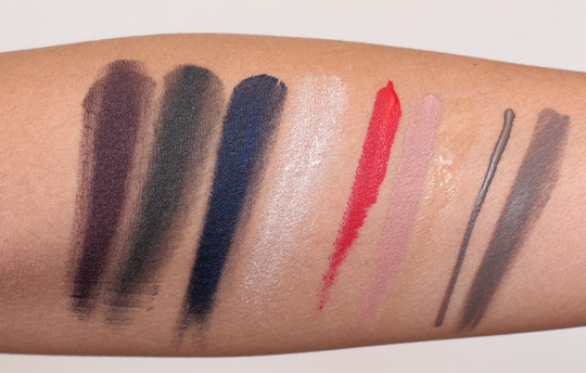 make up for ever black tango swatches
