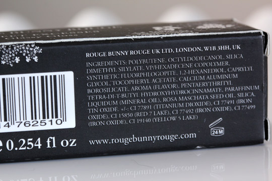 rouge bunny rouge sweet excesses glassy gloss ingredients