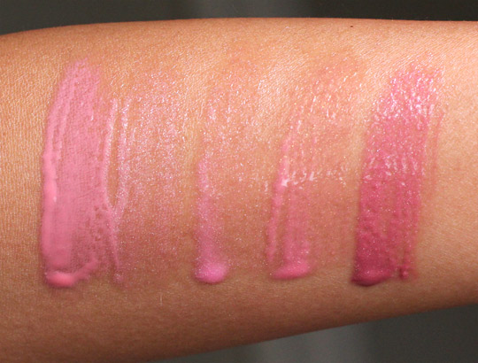 rouge bunny rouge sweet excesses glassy gloss swatches