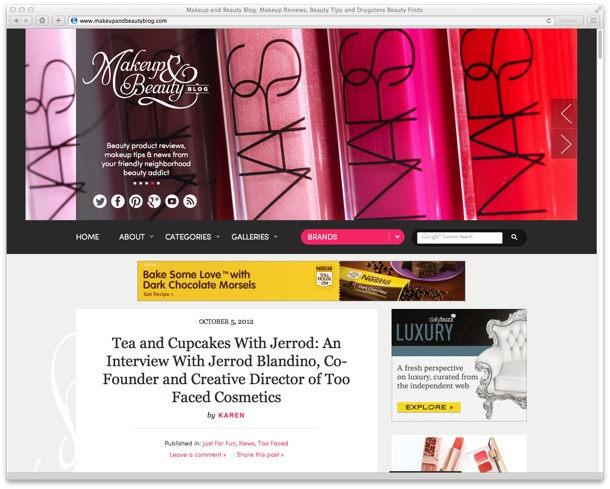 Advertise on Makeup and Beauty Blog