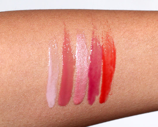 nars andy warhol larger than life lip gloss swatches