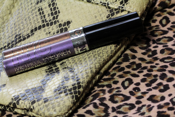 NYC New York Color Metallic Eyeliner in Leopard Print and Serpentine Purple
