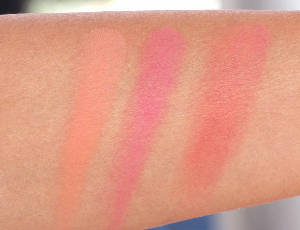 illamasqua powder blusher duo swatches