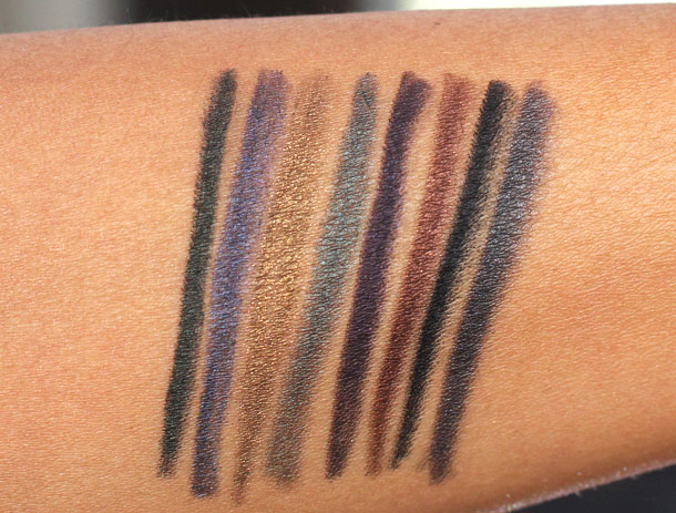 Laura Mercier Smoky Effects Mini Kohl Eye Pencil Collection Swatches