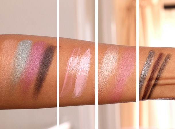 mac glamour daze swatches