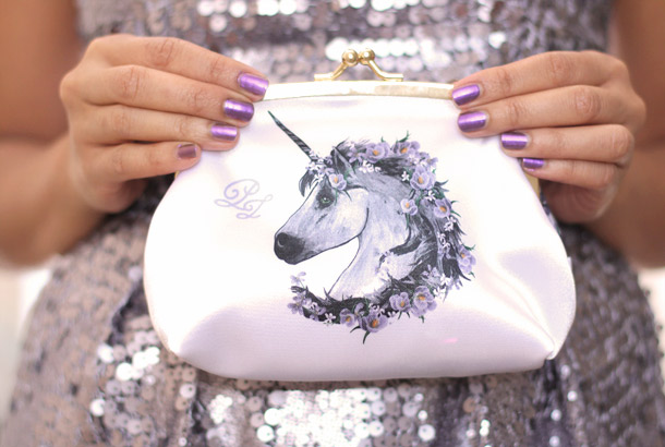 Paul & Joe Holiday 2012 unicorn clutch purse