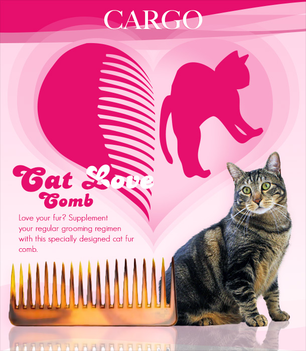 Tabs for the Cargo Cat Fur Comb