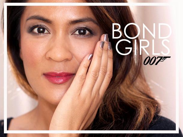 An Elektra King Bond Girl makeup look