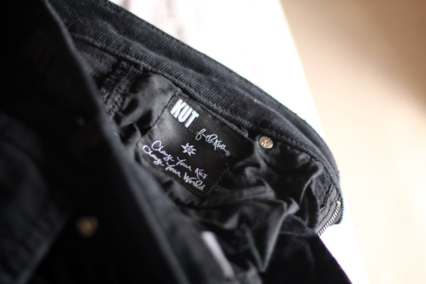 kut from the cloth diana skinny corduroy pants