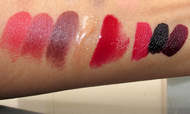 laura mercier art deco muse swatches lipsticks gloss nails