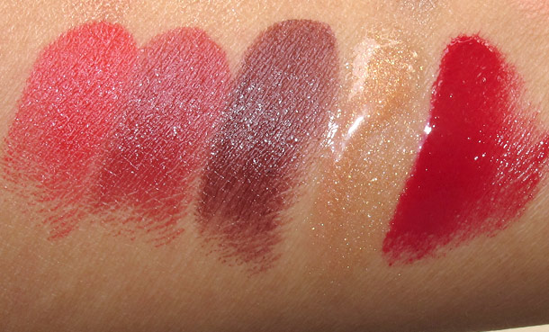 laura mercier art deco muse swatches lipsticks gloss