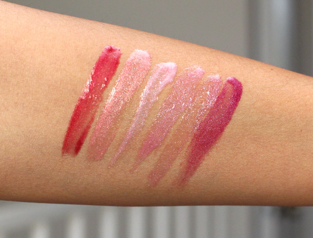 lorac sweet temptations lip gloss collection swatches