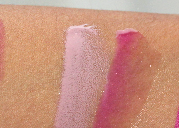 mac good times and revenge is sweet lipglass swatches