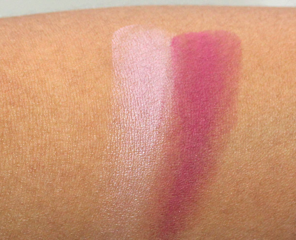 mac taste temptation swatches blush