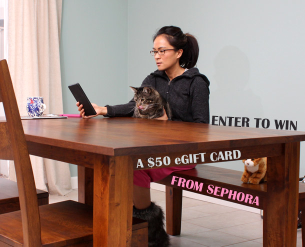 two ways to win a $50 eCard from sephora