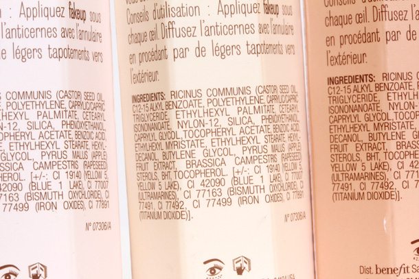Benefit Fakeup Hydrating Crease-Control Concealer ingredients