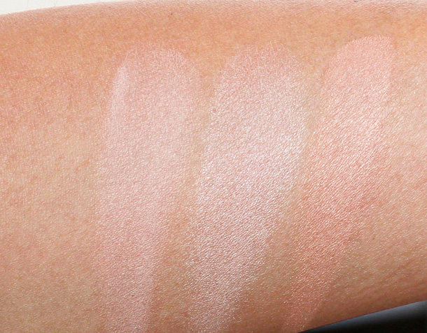 Hourglass Ambient Powder Dim Light Luminous Light Radiant Light swatches