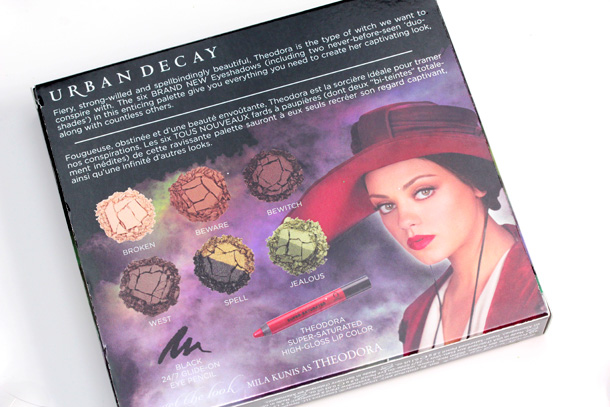 Urban Decay Oz Theodora Palette box back
