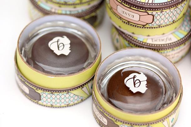 A Closeup of the Logo of the New Benefit Creaseless Cream Shadows