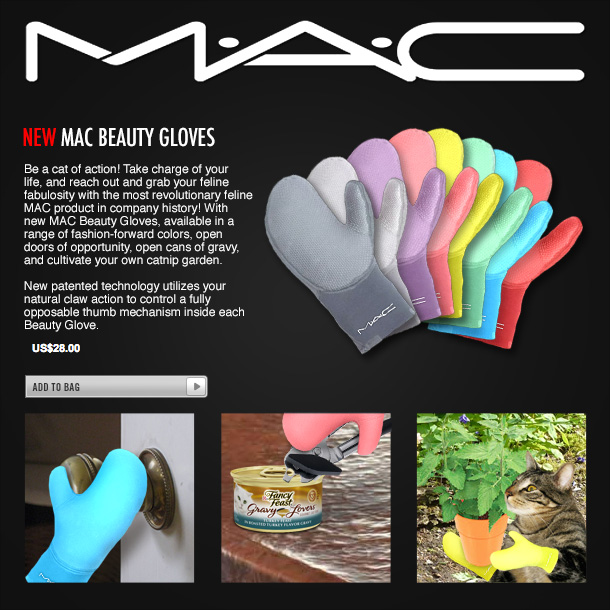 Tabs for MAC Beauty Gloves