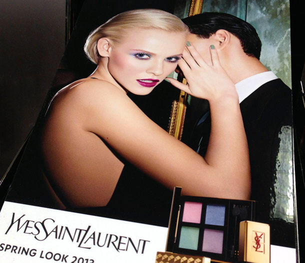 ysl spring 2013 makeup collection top display