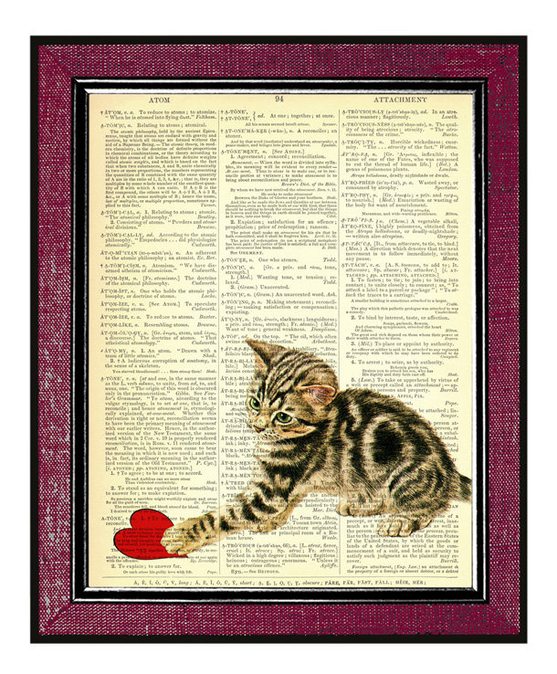 4 CAT WITH A HEART Valentine Day Gift Valentine Art Book