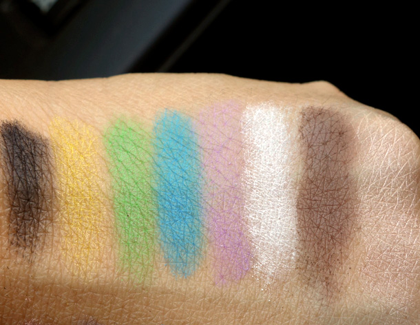 Make Up For Ever Technicolor Palette swatches