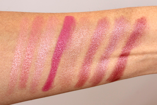 Neutrogena MoistureSmooth Color Stick Swatches