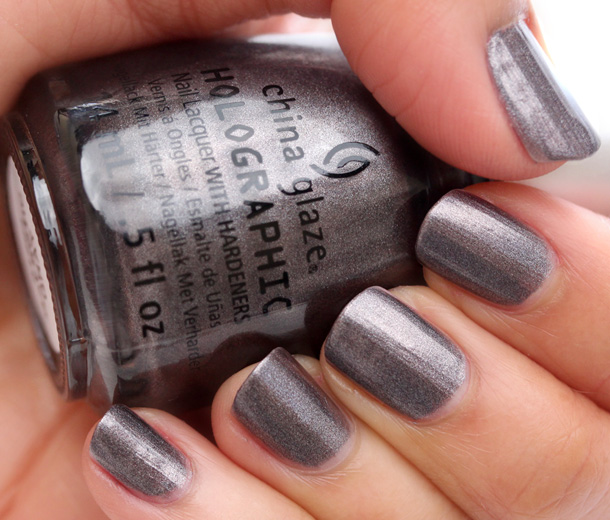 China Glaze Hologlam in Galactic Gray