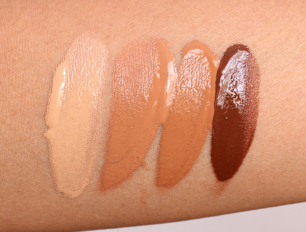 MAC Mineralize Moisture SPF 15 Foundation swatches