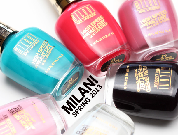 Milani's High Speed Fast Dry Nail Lacquer line new for spring 2013