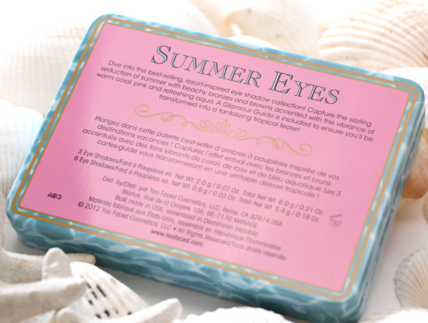 Too Faced Summer Eyes Summer Sexy Shadow Collection 9