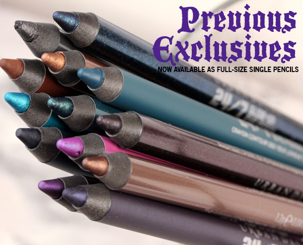 Urban Decay 24 7 Glide On Eye Pencils relaunch 2013 previous exclusives