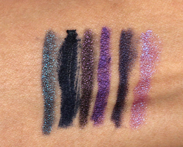 Urban Decay 24 7 Glide On Eye Pencils relaunch 2013 swatches