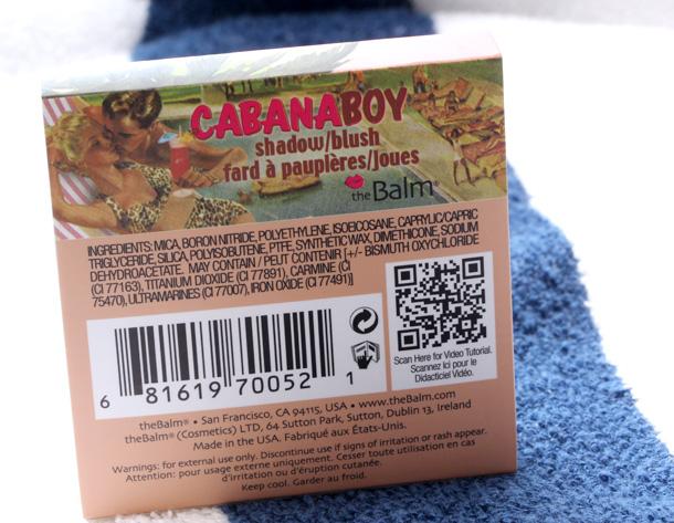 theBalm Cabana Boy Blush box back