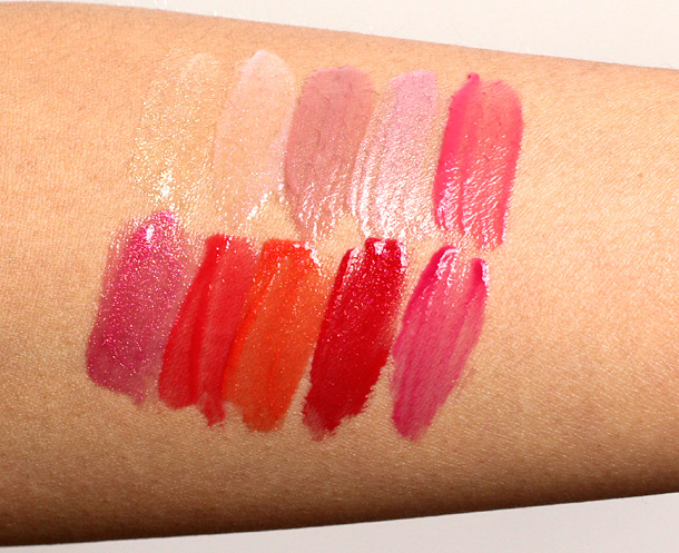 Guerlain Gloss D'Enfer Maxi Shine Swatches