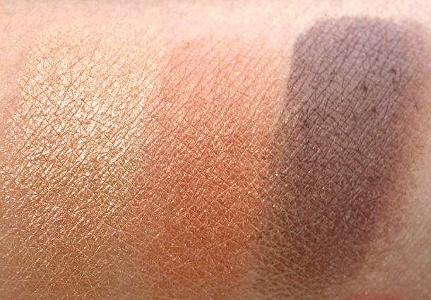 Laura Mercier Folklore Collection Swatches From the left: Sun Glow, Fire Glow and Earth Glow ($24 each)