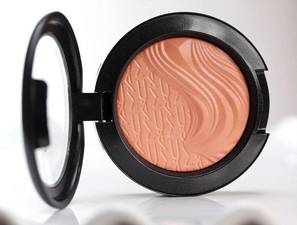 MAC In Extra Dimension Blush in Blazing Haute, a a dirty peach ($25)